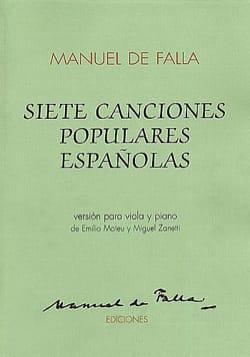 Manuel de Falla - Siete canciones populares espanolas – Viola - Partition - di-arezzo.fr
