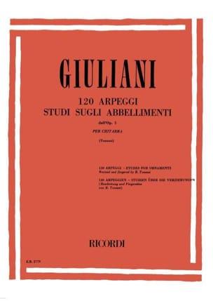 Mauro Giuliani - 120 Arpeggi - Studi sugli abbellimenti dall'op. 1 - Partition - di-arezzo.fr