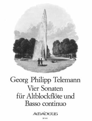 TELEMANN - 4 Sonaten - Altblockflöte u. Bc - Sheet Music - di-arezzo.com