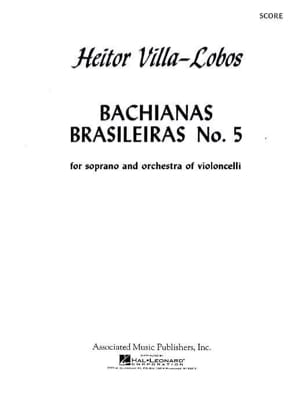 Heitor Villa-Lobos - Bachianas brasileiras n° 5 – Conducteur - Partition - di-arezzo.fr