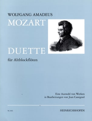 Wolfgang Amadeus Mozart - Duette – 2 Altflöten - Partition - di-arezzo.fr