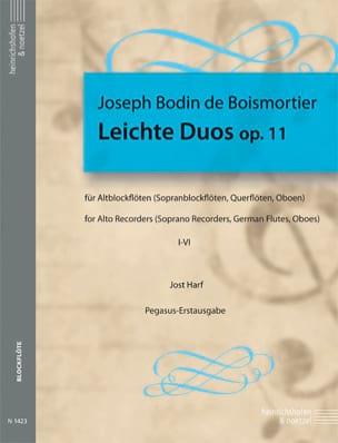BOISMORTIER - Leichte Duos Op. 11- Flûte A Bec Alto - Partition - di-arezzo.fr