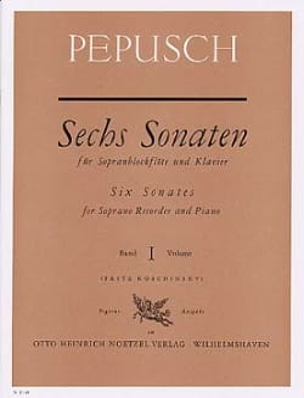 Johann Christoph Pepusch - 6ソナタ1巻 - sopranblockflöteU. Klavier - 楽譜 - di-arezzo.jp
