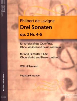 Philbert de Lavigne - 3 Sonaten op. 2 - Nr. 4-6 – Altblockflöte u. Bc - Partition - di-arezzo.fr