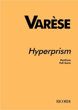 Edgard Varèse - Hyperprism - Partitur - Sheet Music - di-arezzo.co.uk
