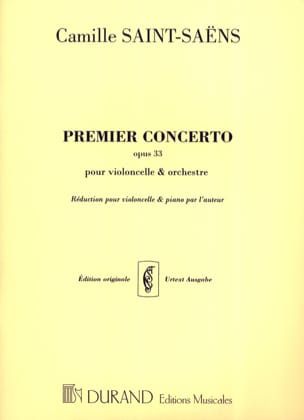 Camille Saint-Saëns - Concierto para violonchelo N ° 1 opus 33 - Partitura - di-arezzo.es