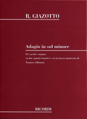 Albinoni Tomaso / Giazotto Remo - Adagio in ground - Conductor - Sheet Music - di-arezzo.co.uk