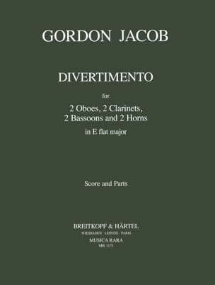Gordon Jacob - Divertimento In E Flat Mib M. - Octet Winds - Sheet Music - di-arezzo.co.uk