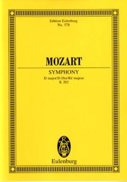 Wolfgang Amadeus Mozart - Symphonie D-Dur KV 202 – Partitur - Partition - di-arezzo.fr