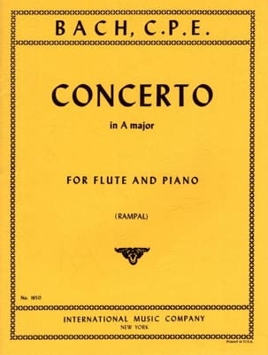 Carl Philipp Emanuel Bach - Concerto A major - Piano flute - Sheet Music - di-arezzo.co.uk