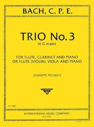 Trio n° 3 G major -Flute violin clarinet viola piano - laflutedepan.com