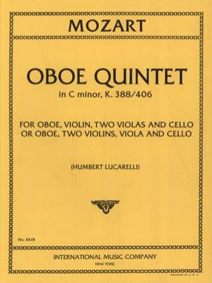 MOZART - Oboe Quintet C minor KV 388/406 - Parts - Sheet Music - di-arezzo.co.uk
