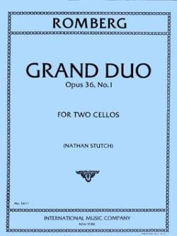 Grand Duo op. 36 n° 1 ROMBERG Partition Violoncelle - laflutedepan