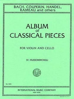V. Hussonmorel - Album of classical pieces - Violin cello - Partition - di-arezzo.fr
