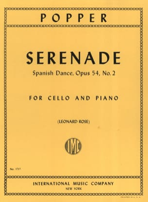 David Popper - Serenade op. 54 n ° 2 - Sheet Music - di-arezzo.co.uk