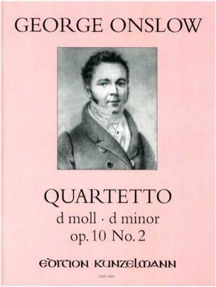 Georges Onslow - Quartetto d-moll op. 10 n° 2 –Stimmen - Partition - di-arezzo.fr