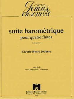 Claude-Henry Joubert - Suite barométrique - Partition - di-arezzo.fr
