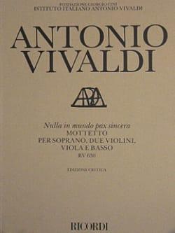 Antonio Vivaldi - Nulla in mundo pax sincera RV 630 – Partitur - Partition - di-arezzo.fr