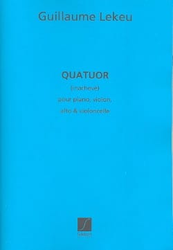 Guillaume Lekeu - Unfinished Quartet - Parts - Sheet Music - di-arezzo.com