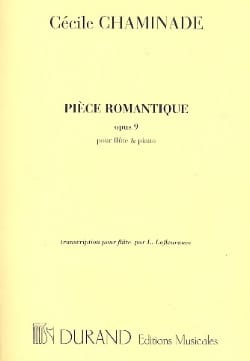 Cécile Chaminade - Romantic Piece, Op. 9 - Flute and Piano - Sheet Music - di-arezzo.co.uk
