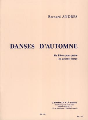 Bernard Andrès - Autumn Dances - Harp - Sheet Music - di-arezzo.co.uk