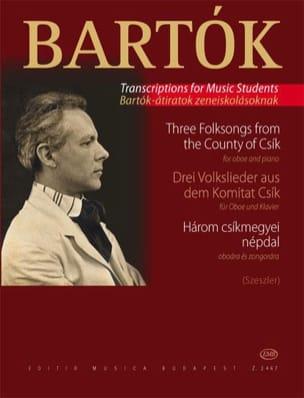 3 Volkslieder aus dem Komitat Csik - Oboe Klavier BARTOK laflutedepan