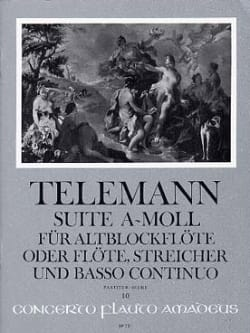 Georg P. Telemann - Suite En la Mineur - Conducteur - Partition - di-arezzo.fr