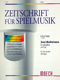 Lothar Graap - 2 Meditationen - Alto Flute and Organ Flute - Sheet Music - di-arezzo.com