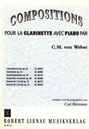 Grand quintetto op. 34 -Clarinette piano - laflutedepan.com
