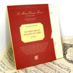 Jean-Marie Leclair - Ouvertures et Sonates en trio 1753) - Fac similé - Partition - di-arezzo.fr