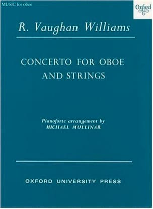 Williams Ralph Vaughan - Concerto for oboe and strings - Oboe piano - Partition - di-arezzo.fr