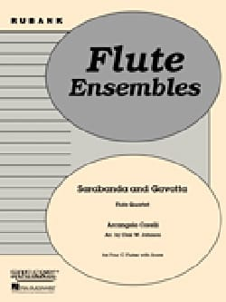 CORELLI - Sarabande and Gavotte - Flute quartet - Partition - di-arezzo.fr