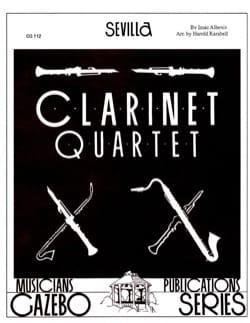 Sevilla - 4 Clarinettes ALBENIZ Partition Clarinette - laflutedepan