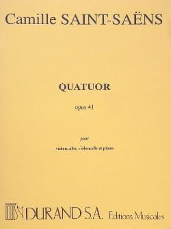Camille Saint-Saëns - Quatuor op. 41 –Parties - Partition - di-arezzo.fr