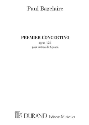 Concertino n° 1 op. 126 Paul Bazelaire Partition laflutedepan