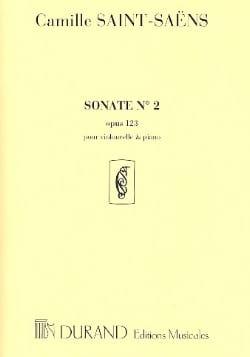 Sonate n° 2 op. 123 SAINT-SAËNS Partition Violoncelle - laflutedepan