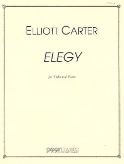 Elliott Carter - Elegy – Viola piano - Partition - di-arezzo.fr