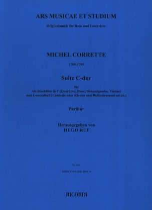 Michel Corrette - C-Dur Suite - Altblockflöte und Bc - Sheet Music - di-arezzo.co.uk
