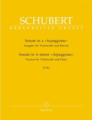 Franz Schubert - Sonata in Minor Arpeggione D. 821 - Sheet Music - di-arezzo.co.uk