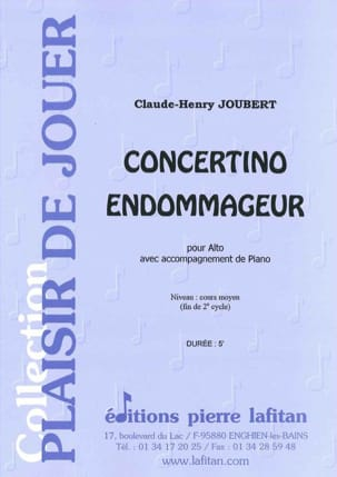 Claude-Henry Joubert - Concertino Endommageur - Partition - di-arezzo.fr