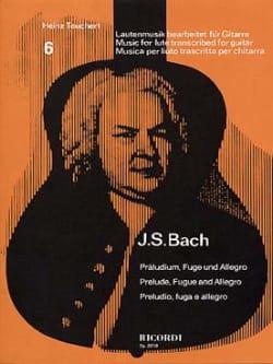 Johann Sebastian Bach - Präludium, Fuge und Allegro –Gitarre - Partition - di-arezzo.fr