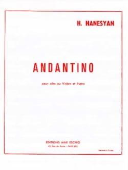 Andantino Harutyun Hanesyan Partition Alto - laflutedepan