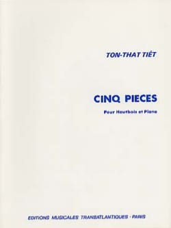 Ton That Tiêt - 5 Pieces - Oboe and Piano - Sheet Music - di-arezzo.co.uk