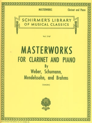 - Masterworks for Clarinet and piano - Sheet Music - di-arezzo.co.uk