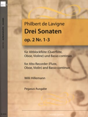 Philbert de Lavigne - 3 Sonaten op. 2 - Nr. 1-3 - Altblockflöte u. Bc - Sheet Music - di-arezzo.co.uk