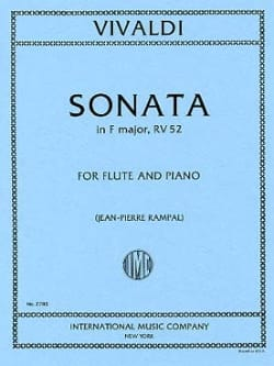 VIVALDI - Sonata in F major RV 52 - F. 15 No. 4 - Piano Flute - Sheet Music - di-arezzo.com
