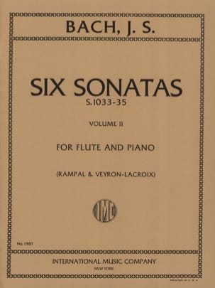 BACH - 6 Sonatas - Volume 2 - Piano Flute - Sheet Music - di-arezzo.co.uk