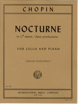 CHOPIN - Nocturne In C # Minor, Op. Posth. - Partition - di-arezzo.fr