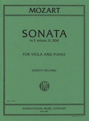 Sonata in E minor KV 304 - Viola MOZART Partition Alto - laflutedepan