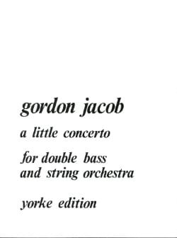 Gordon Jacob - A Little Concerto - Double bass - Sheet Music - di-arezzo.com